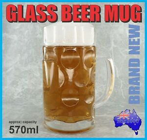 NEW OKTOBERFEST GLASS BEER MUG STEIN TANKARD GERMAN STYLE WITH HANDLE HOME BAR