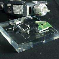 Star Trek TOS, Phaser Lock Plate, Mirror Polished, Die Cut, Aluminum NEW ITEM