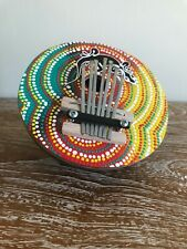 More details for 7 key finger piano kalimba coconut shell thumb  musical instrument hand painted