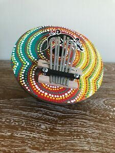 7 Key Finger Piano Kalimba Coconut Shell thumb  musical instrument hand painted