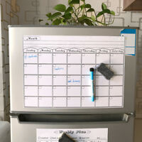 MAGNETIC DRY ERASE CALENDAR Board Wall Monthly Time Planner Whiteboard PipB lx