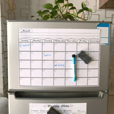 MAGNETIC DRY ERASE CALENDAR Board Wall Monthly Time Planner Whiteboard BDAU