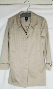 Womens Gap Tan Trench Coat Size Small
