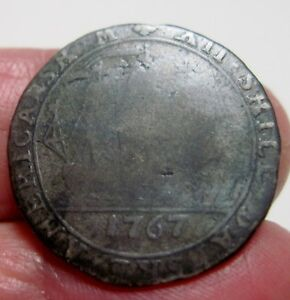 1767 (DANISH WEST INDIES) 12 SKILLING (SILVER) ---One year type --