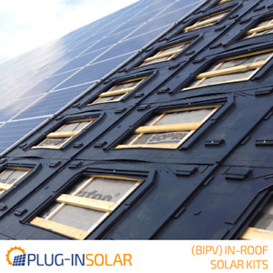 Plug-In Solar New Build In-Roof (BIPV) Solar Power Kit for Part L Building Regs
