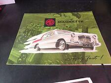 Original 1961 MG Magnette Mark III Sales Brochure