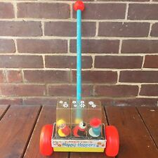 Vintage Fisher Price Happy Hoppers Toy Popper #121 Toddler Push Toy Straight Dog