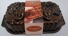 Nordicware 6 Cup PUMPKIN PATCH TRIO LOAF Pan AUTUMN Vines HARVEST Bread Cake NEW