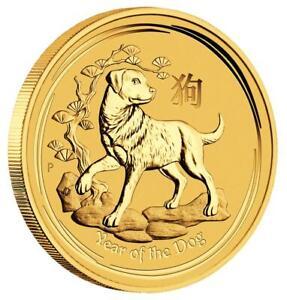 Australien - 100 Dollar 2018 - Jahr des Hundes - Lunar II. - 1 Oz Gold ST