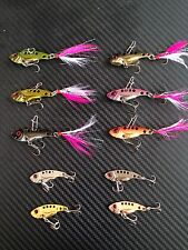 10x Metal Fishing Vibes Blades Lures 42mm Vibe Bream Lure Barra Jigs Stick Bait