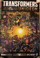 "SDCC 2018 IDW Hasbro Exclusive Poster - Transformers Unicorn 17.5""x11"""