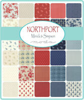 "Moda, Northport, 5"" Charm Pack, Fabric Quilting Squares, 14880PP, SQ61"