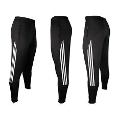 Men Sport Athletic Soccer Fitness Training Running Stripe Casual Pants Trousers
