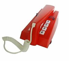 Steepletone Stp1975pb Seventies Style Push Button Trim Phone Retro - Red