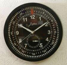 Wall Clock JUNGHANS Aircraft Military Cockpit Chronograph