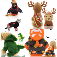 Pet Dog Santa Halloween Cosplay Clothes Puppy Cat Pumpkin Hoodie Costume Apparel