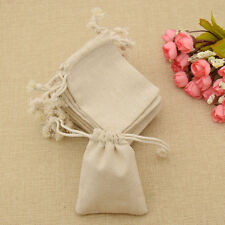 30 Pcs Burlap Linen Jute Sack Pouch Bags Drawstring Wedding Favor Gift Storage