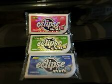 eclipse Thin  Mints  Sugarfree Powerful Fresh Breath Apple Berry Peppermint 3pcs