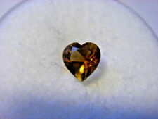 Citrine Heart Cut Gemstone 5 mm x 5 mm 0.32 carat Gem Yellow Stone