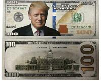 10 x Donald Trump $100 Dollar Note Silver Foil Banknote Make America Great Again