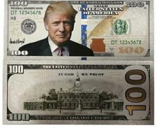 Donald Trump $100 Dollar Note Silver Foil Banknote Make America Great Again