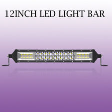 12Inch 680W Dual Rows Led Work Light Bar Flood Spot Combo Offroad For JEEP FORD