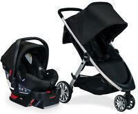 Britax B-Lively Stroller & B-Safe 35 Infant Car Seat Travel System Raven NEW