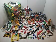 Mixed Year Power Ranger Action Figure Lot Vehicles Parts Figures HUGE LOT