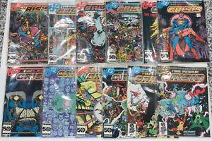 1985 DC Crisis on Infinite Earths Comic Book Series 1-12 1 2 3 4 5 6 HIGH GRADE