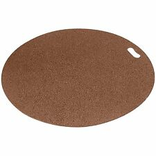 Brown Round Grill Pad Out Door Splatter Mat Patio Deck Floor Spill Protector New