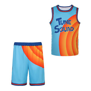 Movie Cosplay Costumes Space-Jam Tune Squad Basketball Jersey Sewn Size XS-3XL
