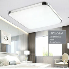 Modern Bedroom Square LED Ceiling Light 56W Living Room Surface Mount Fixture LE