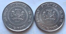 Singapore 2nd Series 2 pcs 10 cents 1990 coin