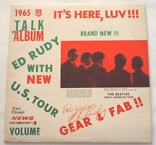 Ed Rudy With The Beatles 1965 New U.S. Tour Volume 3 LP Vinyl SIGNED Fab Wishes