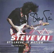 Stillness In Motion * by Steve Vai (2 CD, 2015, Legacy) Original Signed