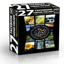 27 Facebook Fanpage-Vorlagen / Templates - Verschiedene Lizenzarten