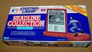 1991 Rickey Henderson Starting Lineup Headliner Collection Oakland Athletics A's