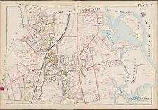 1910 G.W. BROMLEY, RYE WESTCHESTER, N.Y. APAWAMIS GOLF CLUB LINKS COPY ATLAS MAP