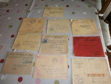 LOT DE 10 ENVELOPPES    DE 1945 à  1970