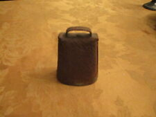 Vintage Rustic Old Heavy Metal Cow Bell Circa Early 1900'S Working