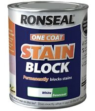 RONSEAL ONE COAT STAIN BLOCK WHITE BASECOAT 750ML -FAST SHIPPING