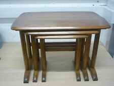 Ercol 957 Golden Dawn Elm Chedworth Set of 3 Three Nesting Tables