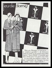 Publicité Sport-Maille Jeu de Dames   mode fashion vintage print ad  1930 - 2h