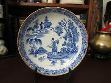18th c Chinese Blue & White Export Bowl - Stapled Repair