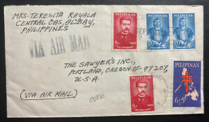 1965 Central OAS Albany Philippines Airmail Cover To Portland OR USA