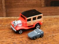 Micro Machines Ford 20's Woody Insiders with Porsche 928 Micro Mini