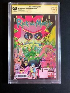 Rick And Morty #38 🔥CBCS/CGC 9.8 SS Kyle Starks With Sketch! Oni Press 2018!