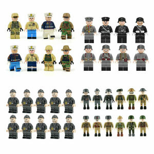 WW2 Military Army Soldiers Weapons British US Japanese USSR WWII Building Blocks
