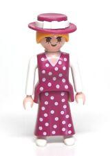 Playmobil Figure Victorian Dollhouse Mother Woman w/ Polka Dot Dress Hat 5510
