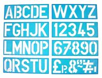 Plastic Sign Writing Stencil Kit Letters & Numbers Alphabet Upper Case (100mm)